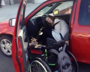 Kelsey in truck